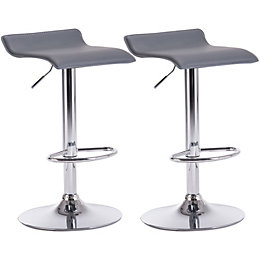 Daphne Grey & Chrome Effect Bar Stool (H)850mm