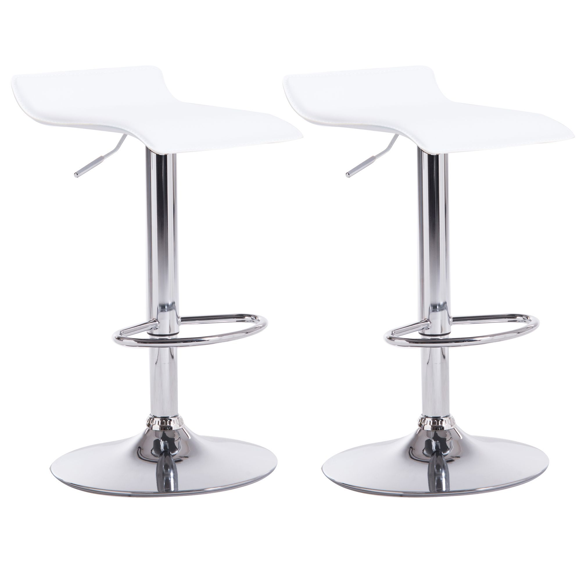 online store 2dcf6 d0ae3 Daphne White & Chrome effect Bar stool (H)850mm (W)450mm, Pack of 2    Departments   DIY at B&Q