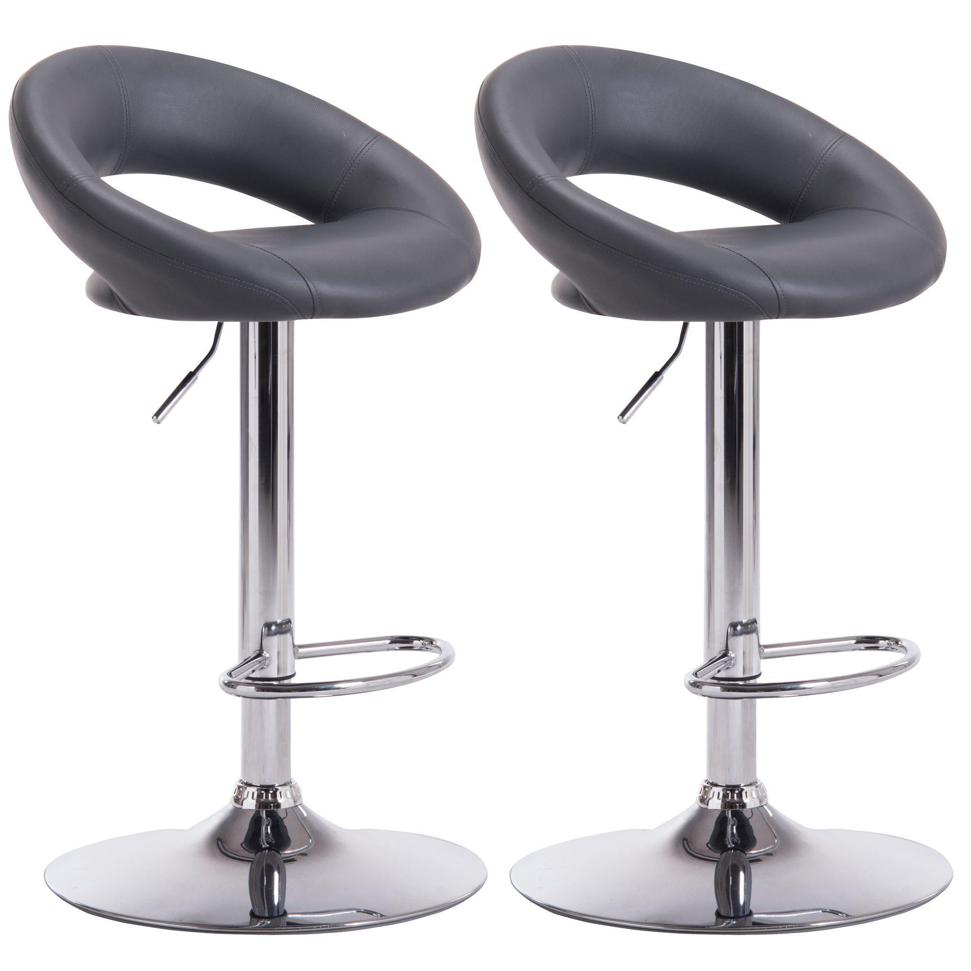 sale retailer cacbe 2cf36 Regina Grey & Chrome effect Bar stool (H)1000mm (W)490mm, Pack of 2    Departments   DIY at B&Q