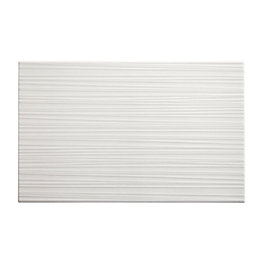 Salerna White Gloss Linear Ceramic Wall tile, Sample,