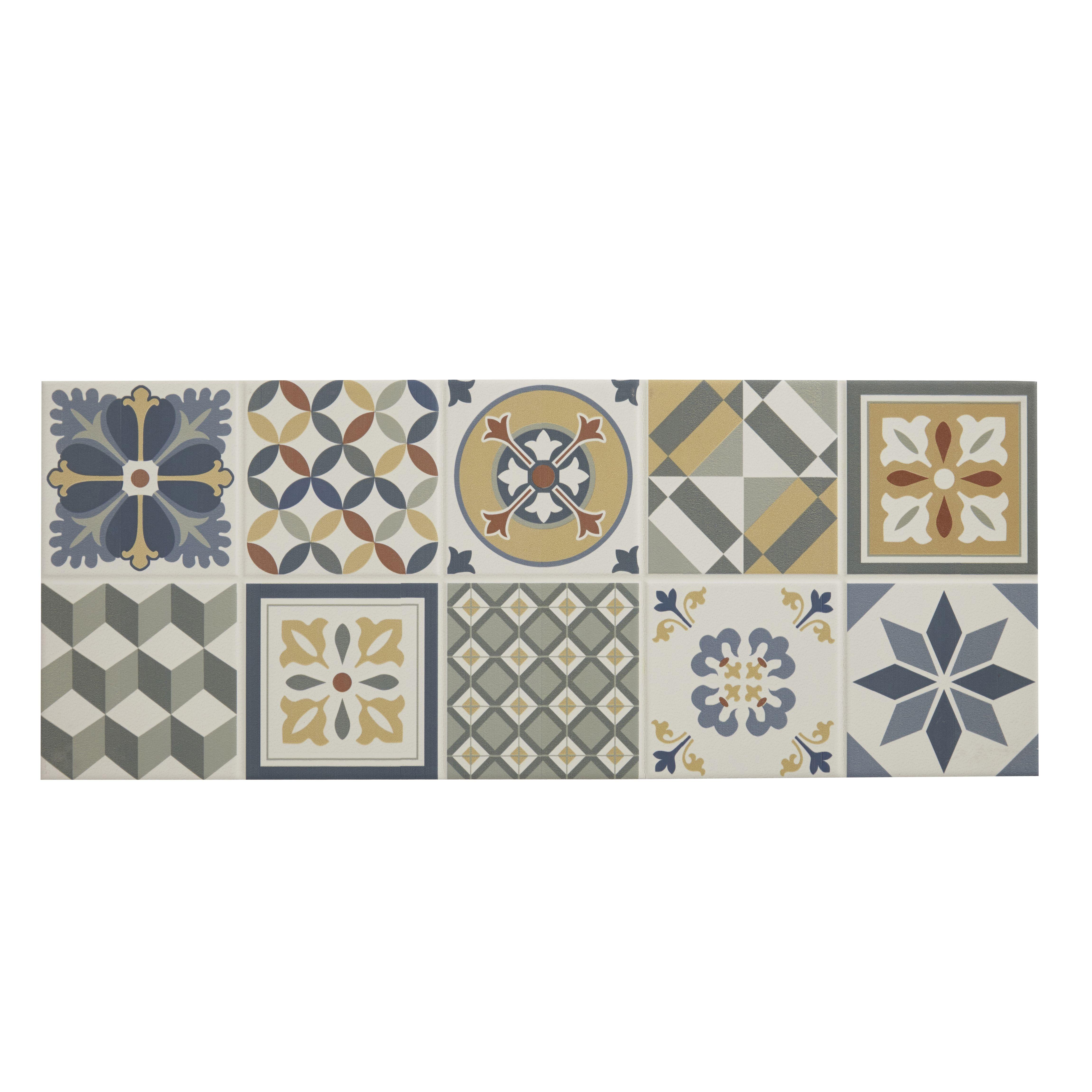 konkrete multicolour matt ceramic wall tile sample l 500mm w