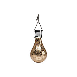 Painted & electroplated Bulb Solar powered LED Small