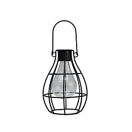 Black Powder coated Lantern Solar powered LED Outdoor