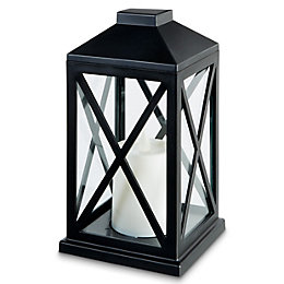 Black Battery powered Outdoor lantern lamp