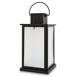 Black Lantern Solar powered LED Outdoor lantern lamp