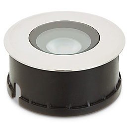 Blooma Brockton Brushed LED Ground Light