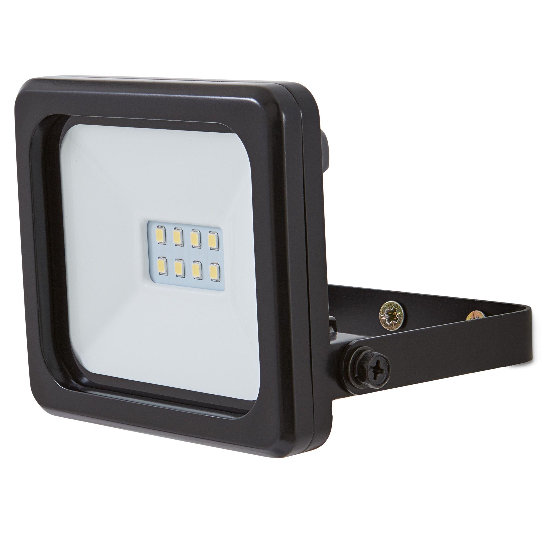 LED Floodlight Mains Powered Black
