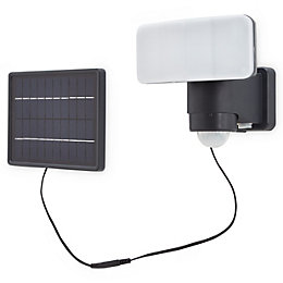 Blooma Kenora Charcoal Solar powered Solar floodlight with