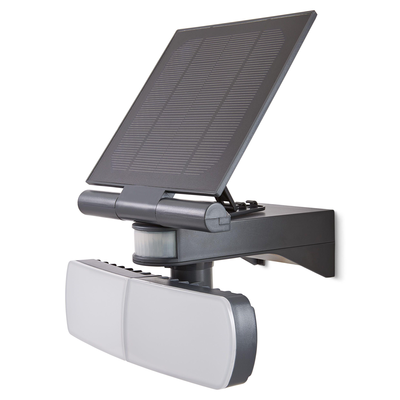 Blooma Brampton Matt Charcoal Solar Powered External Twin
