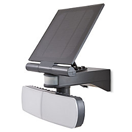 Blooma Brampton Matt Charcoal Solar powered External Twin