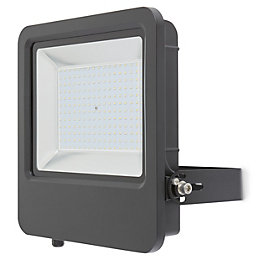 Blooma Duncan Powder coated Black Mains Floodlight