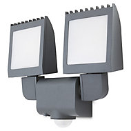 Blooma Parksville Charcoal Mains Floodlight with PIR
