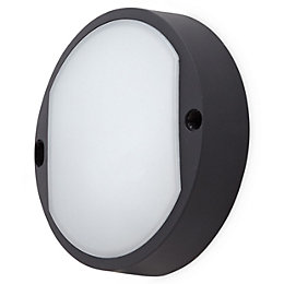 Black Mains Outdoor wall light
