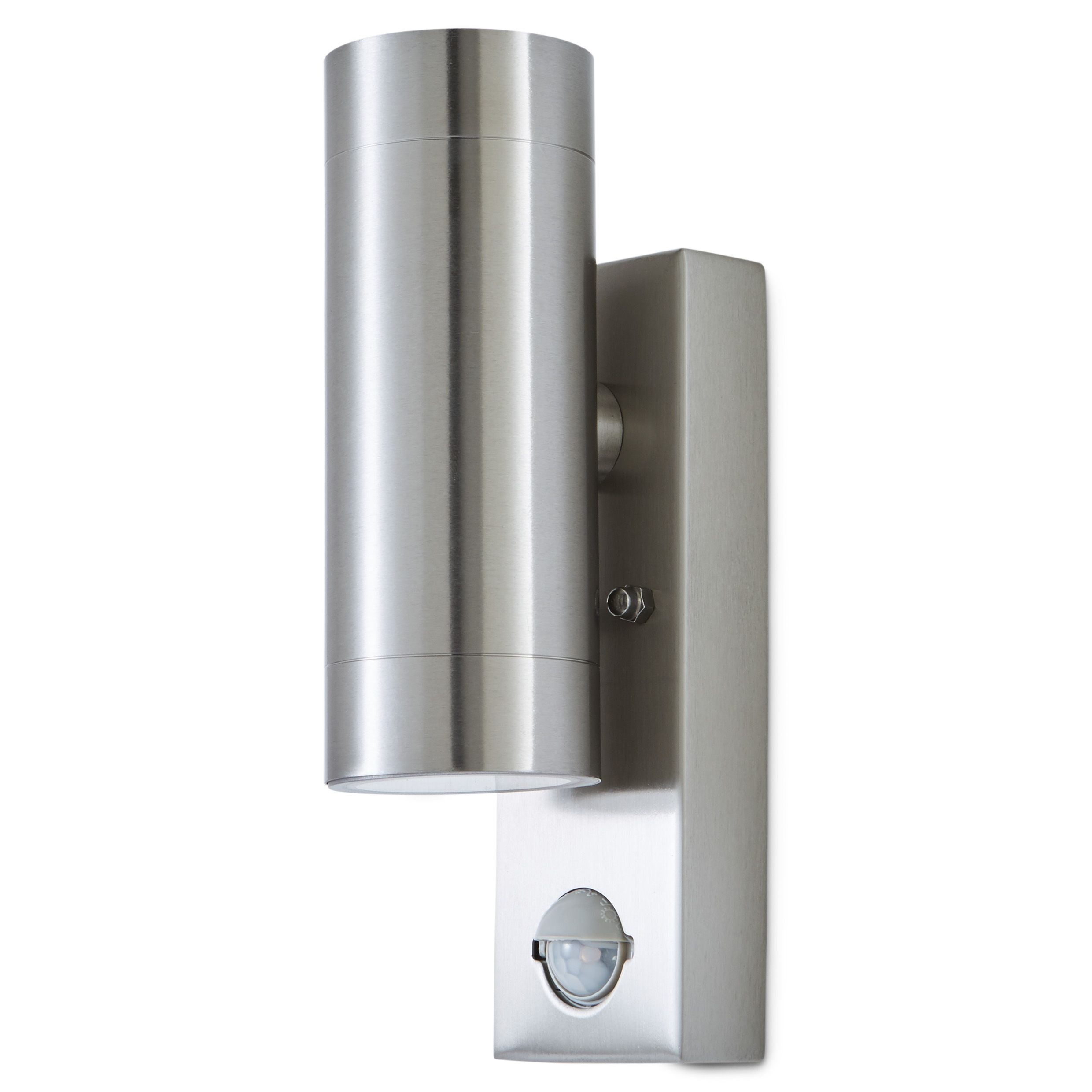 Patio Lights Screwfix: Blooma Candiac Silver Effect Mains Powered Outdoor Wall