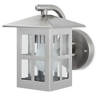 Blooma Medfra Silver effect Mains powered Outdoor wall light