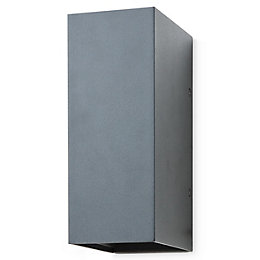 Blooma Edna Powder coated Charcoal Mains Outdoor wall