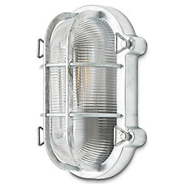 Blooma Clermont Galvanized Mains powered Bulkhead wall light