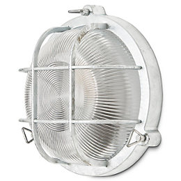 Blooma Waterville Galvanized Mains Outdoor wall light