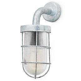 Blooma Yorkton Galvanized Mains powered Outdoor wall light