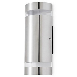 Blooma Standstead Silver effect Mains Outdoor wall light