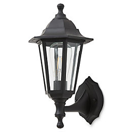 Blooma Anqui Black Mains powered Outdoor wall light