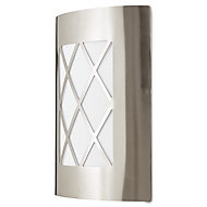 Blooma Chambly Silver effect Mains powered Outdoor wall light