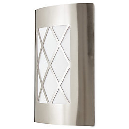 Blooma Chambly Silver effect Mains Outdoor wall light