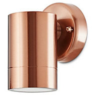 Blooma Candiac Copper effect Mains powered Outdoor wall light