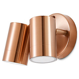 Blooma Candiac Copper effect Mains Outdoor wall light