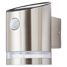 Cylinder Solar powered LED Outdoor wall light
