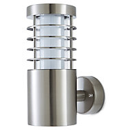 Blooma Hampstead Silver effect Mains powered Outdoor wall light