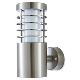 Blooma Hampstead Silver effect Mains Outdoor wall light
