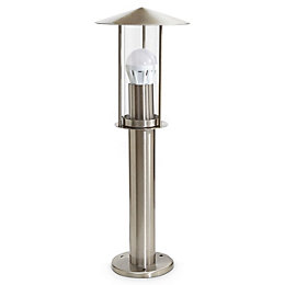 Blooma Chignik Silver effect Halogen Post light