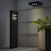 Blooma Noatak Powder coated Charcoal LED Post light
