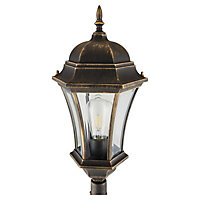 Blooma Richelieu Brushed gold 6 faces lamp post