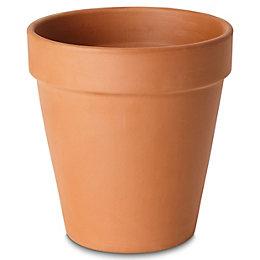 Laleh Round Terracotta Pot (H)244mm (Dia)273mm