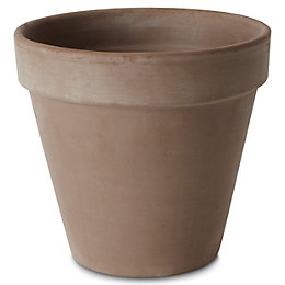 Laleh Round Terracotta Brown Pot (H)203mm (Dia)230mm