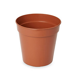 Lei Round Brown Grow pot (H)120mm (Dia)105mm, Pack