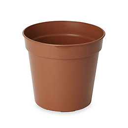 Lei Round Brown Grow Pot (H)150mm (Dia)180mm