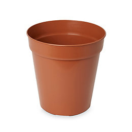 Lei Round Brown Grow pot (H)270mm (Dia)254mm