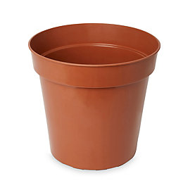 Lei Round Brown Grow Pot (H)290mm (Dia)305mm