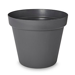 Nurgul Round Dark Grey Pot (H)587mm (Dia)700mm