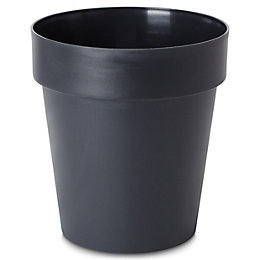 Nurgul Round Dark Grey Pot (H)266mm (Dia)300mm