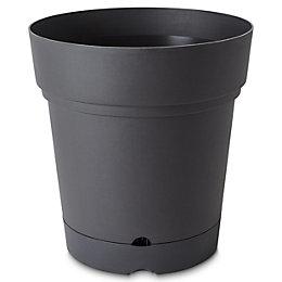 Nurgul Round Dark grey Pot with reservoir (H)580mm