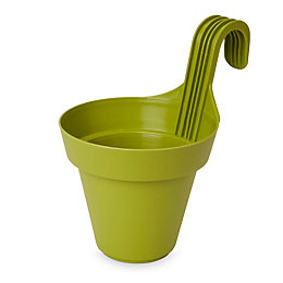 Nurgul Round Green Hanging pot (H)280mm (Dia)200mm