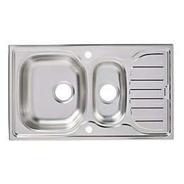 Turing 1.5 Bowl Stainless Steel Sink & Drainer
