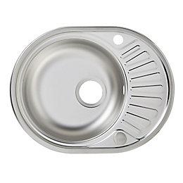 Liebig 1 Bowl Stainless Steel Round Sink &