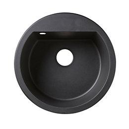 Cooke & Lewis Drexler 1 Bowl Black Composite