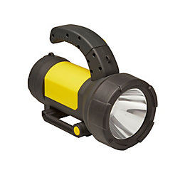 Diall 190lm Plastic LED Black & yellow Rechargeable