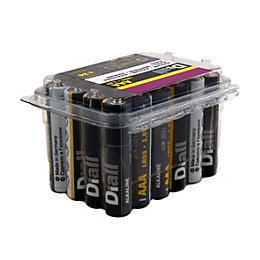 Diall AAA Alkaline Battery, Pack of 24